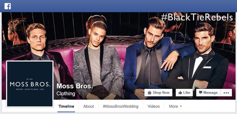 Moss Bros on Facebook