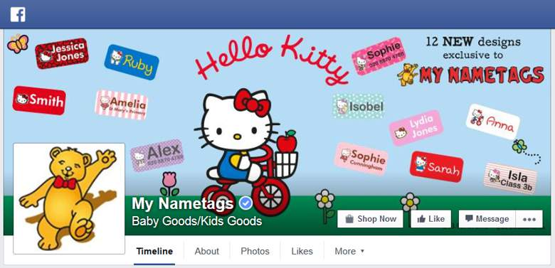 My Nametags on Facebook