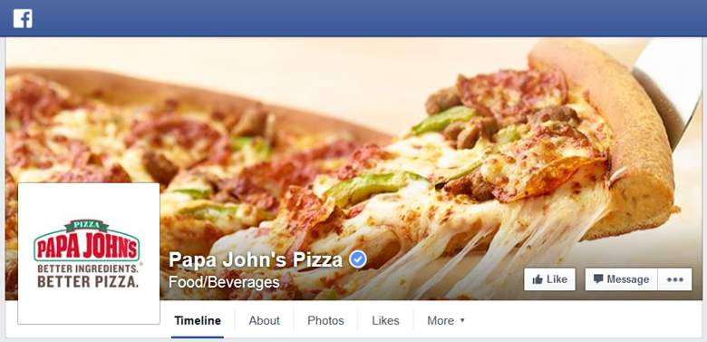 Papa Johns on Facebook