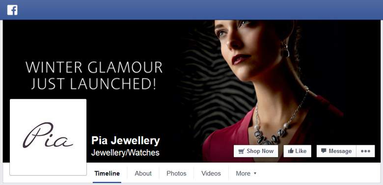 Pia Jewellery on Facebook