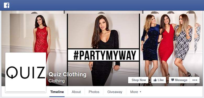 Quiz Clothing on Facebook