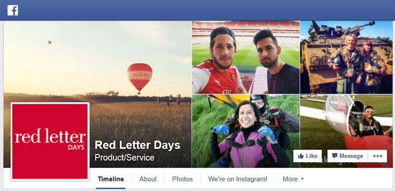 Red Letter Days on Facebook