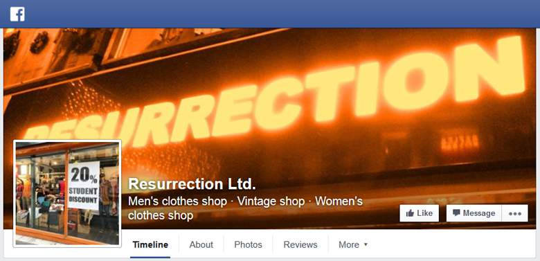 Resurrection on Facebook