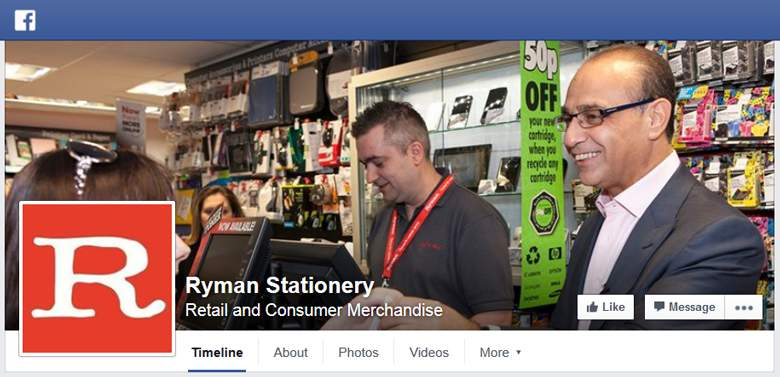 Ryman on Facebook