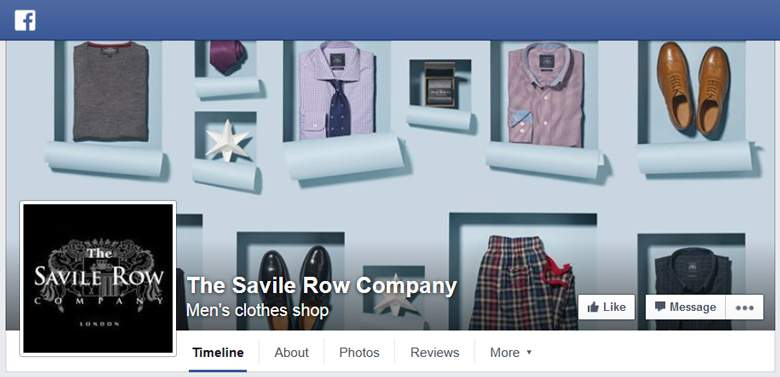 Savile Row on Facebook