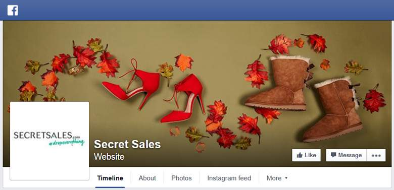 Secret Sales on Facebook