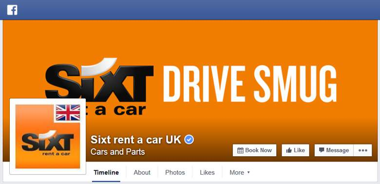 Sixt on Facebook