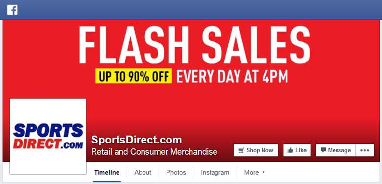 Sports Direct on Facebook