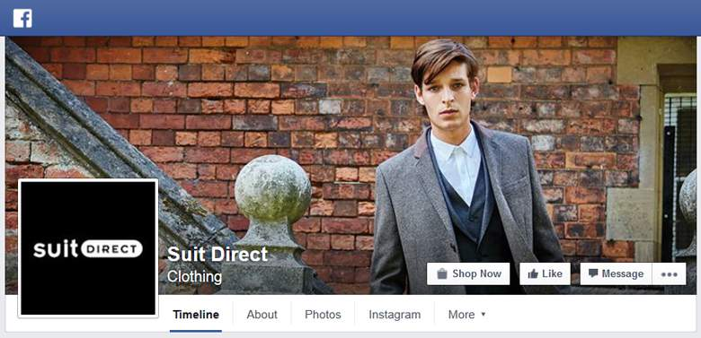 Suit Direct on Facebook