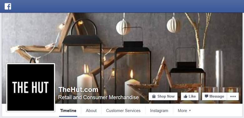 The Hut on Facebook