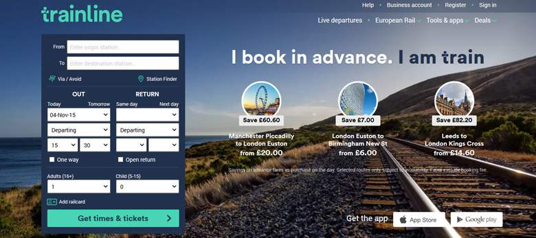 TrainLine page