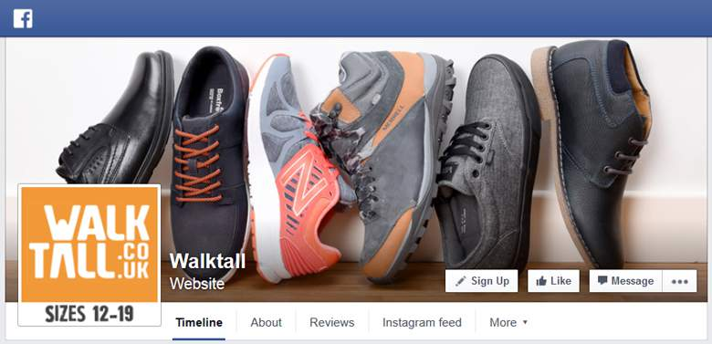 Walktall on Facebook