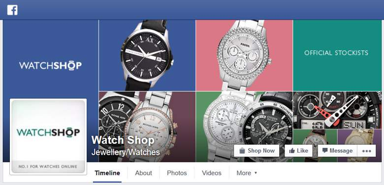 Watch Shop on Facebook