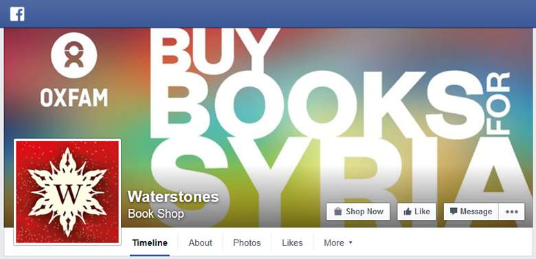 Waterstones on Facebook