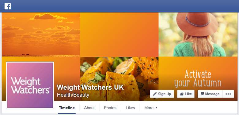 Weight Watchers on Facebook