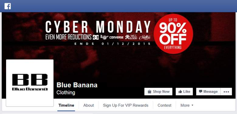 Blue Banana on Facebook