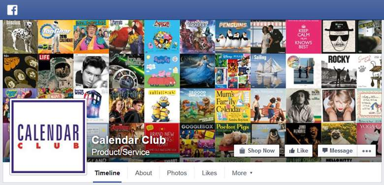 Calendar Club on Facebook
