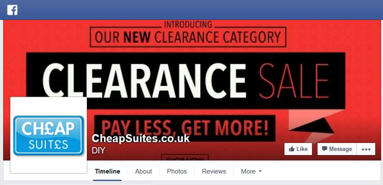 Cheap Suites on Facebook