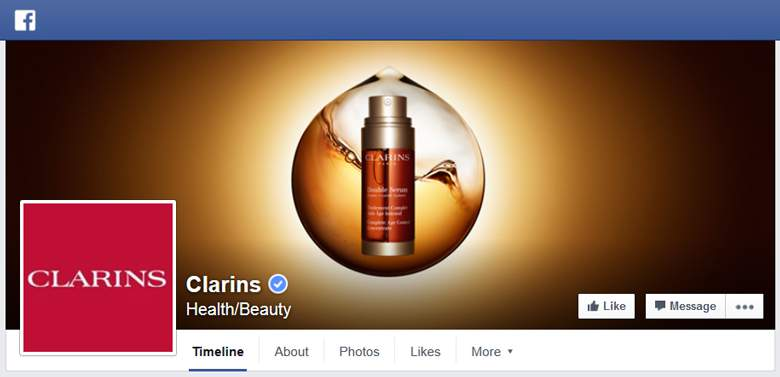 Clarins on Facebook