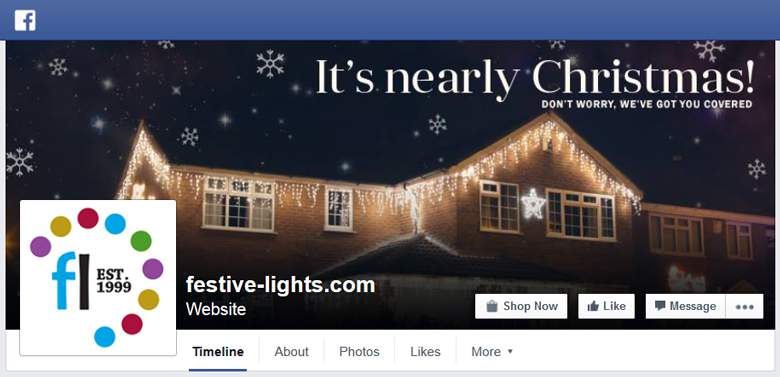 Festive Lights on Facebook