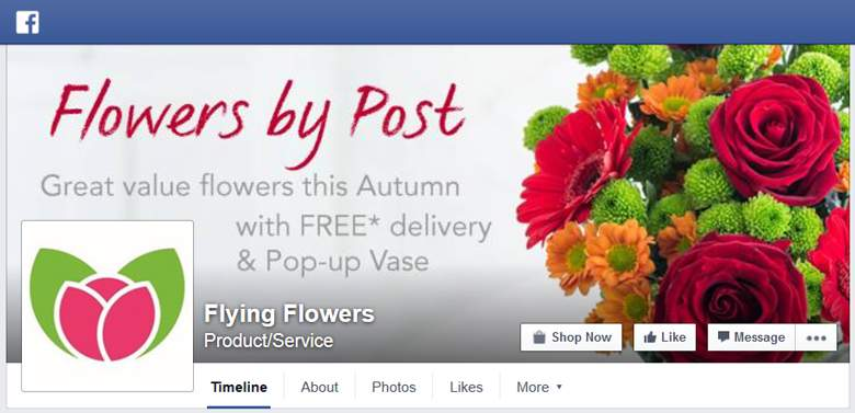 Flying Flowers on Facebook