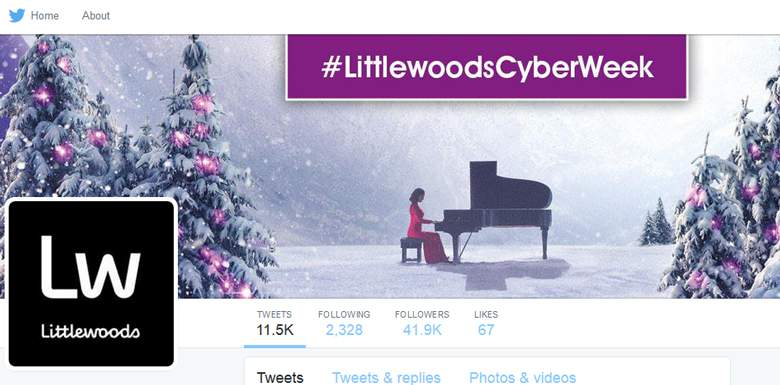 Littlewoods on twitter