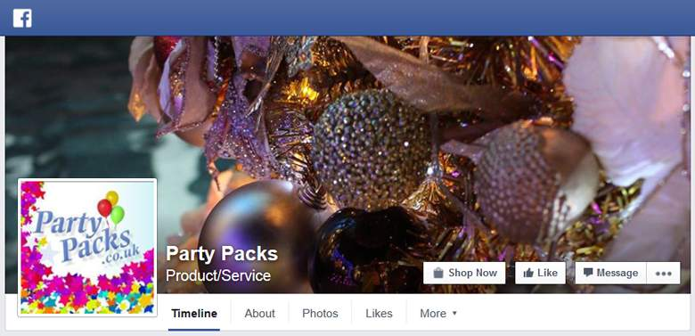 Party Packs on Facebook