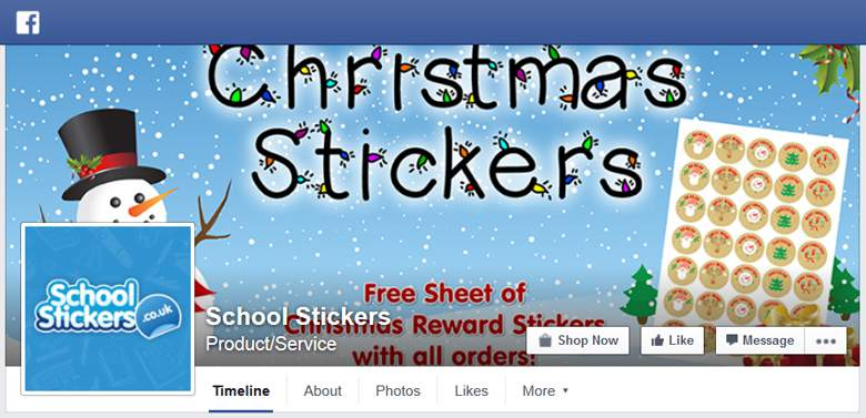 School Stickers on Facebook